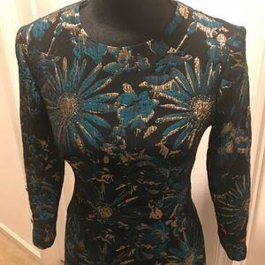 Trina Turk Floral Sheath Dress. Size 2